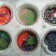 Heat crayon cupcakes in oven