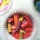 Place broken crayons in cupcake liners