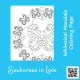 Whimsical seahorses in love mandala coloring design sheet