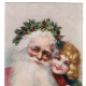 Vintage Santa graphics: Santa and friend