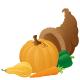 Thanksgiving cornucopia clip art