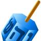 Hanukkah symbols: dreidel