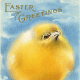 Fluffy yellow vintage Easter chick