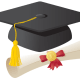 free graduation cap and diploma clip art