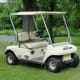 Typical golf cart in Peachtree City. Major local retailers are Big O's, Bulldog's, and Three Guys Golf Carts.