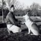 My dad and Sheba our German Shepherd