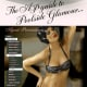 model in bikini with swim cap - poolside glamor advertisement