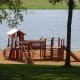 One of two play areas for small children on the banks of the lake