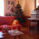 Bed and breakfast living room at Christmas