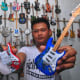 Others miniature guitars shown by craftman