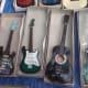 Miniature guitars in box