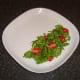 Watercress and baby plum tomato salad