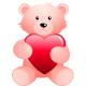 Teddy bear with heart clip art