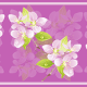 Delicate purple flower scrapbook border with an orchid background