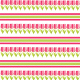 Flower scrapbook paper: Rows of magenta tulips with magenta and green stripes