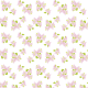 Small delicate purple flower art scrapbook paper on white background