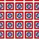 Military scrapbooking: stars, circles and checkerboard