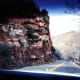 Driving down Oak Creek Canyon from Flagstaff to Sedona