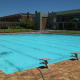 The pristine swimming pool, beautiful as ever.