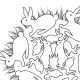Whimsical Rabbits Mandala Coloring Sheet