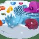 1. Nucleolus; 2, Nucleus; 3. Ribosome; 4. Vesicle; 5. Rough ER; 6. Golgi Body; 7. Cytoskeleton; 8. Smooth ER; 9. Mitochondrion; 10. Vacuole; 11. Cytoplasm; 12. Lysosome; 13. Centriole; 14. Cell Membrane