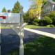 All done - mailbox post has been painted