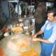 making the bhaji