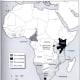 Range or distribution of black rhino