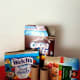 Recycle cereal boxes, oatmeal boxes and other food boxes to use for crafts.