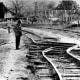 Twisted rails after tje 1976 Tangshan earthquake