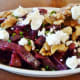 Cold roasted beet salad with crumbled goat cheese at Bistro Menil