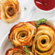 Baked potato roses