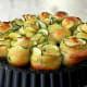 Zucchini garlic rose bread