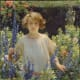 This is a gorgeous oil painting, with such an amazing look on the face of the subject. That, and the garden surrounding her.  I think Curran's work here is amazing, and I truly love it. Oil on Canvas, located at Metropolitan Museum of Art.  30x30 in.