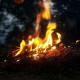 Dancing around Nighttime Bonfires