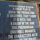 """One of the comments posted outside the Ethel Barrymore Theatre, concerning the play, """"A Raisin in the Sun."""""""