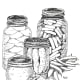Jars have ovals.  This is done in ink.