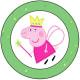 Peppa Pig Grass Cupcake Topper