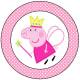 Polkadot Cupcake Topper (Princess Peppa)