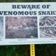 Signs posted warning of snakes