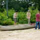 Canoe lessons being taught by Boy Scouts at Creekfest