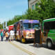 Creekfest view of some of the food trucks on site
