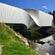 If you want to see the entire sculpture park at Kistefos, you have to go through the entire art exhibition in The Twist Gallery, as the building forms a bridge and connects the two riverbanks.