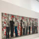 "The Norwegian contemporary artist Sverre Koren Bjertnæs is represented with the painting ""Rune Red, Tor Olav, Kenta, Dennis, Nader, Rune, Henrik, Kirupa, Daniel and Shahab"", 2002. He started his art education when he was 11 years old."