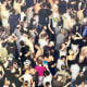 "Part of the German artist Andreas Gursky's photo,"" Mayday IV, 2000"". He presents reality in a unique way through his sensitive approach to the identity of the motifs in his works, challenging the limits of photography."