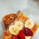 Fresh fruits are the best company to the french toast besides the syrups!