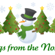 Personalized Santa letter 7: Snowman and Christmas trees