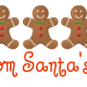 Personalized Santa letter 1: gingerbread men