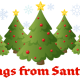 Personalized Santa letter 4: Christmas trees