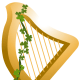 Irish lyre for St. Patrick's Day